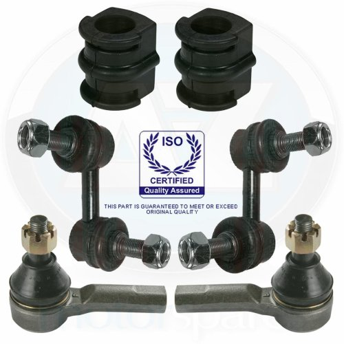 For Nissan XTrail Front Suspension anti roll bar bushes links track rod ends kit