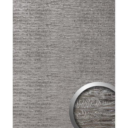 WallFace 15659 PERSIAN Luxury textured leather sheet decor platin-grey | 2.60 qm