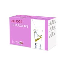 """ICO Pack of 30 """"CO2"""" Soda Siphon Bulbs, Silver, 8g"""