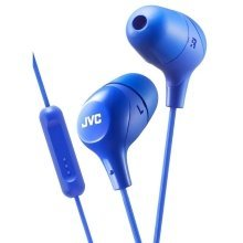 JVC In-Ear Headphones with 1 Button Remote Control And Mic - Blue (HAFX38MA)