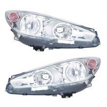 Peugeot 308 6/2011-4/2014 Headlights Headlamps Chrome Inner 1 Pair O/s & N/s