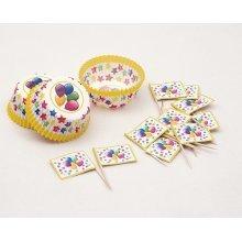 Balloon Cake Cups & Picks Large24's