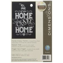 """Home Crazy Home Mini Counted Cross Stitch Kit-5""""x7"""" 14 Count - Dimensions Kit -  home crazy cross stitch dimensions kit counted d7065149 mini kit5x7"""