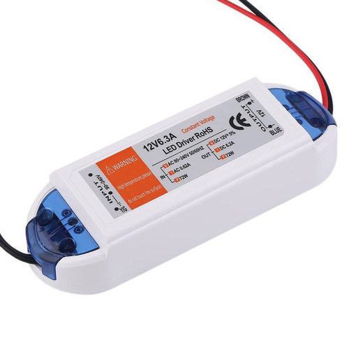 72W Compact LED Driver AC 230V to DC12V Power Supply Transformer