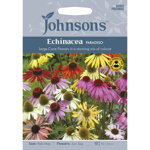 Johnsons Seeds - Pictorial Pack - Flower - Echinacea Paradiso - 20 Seeds