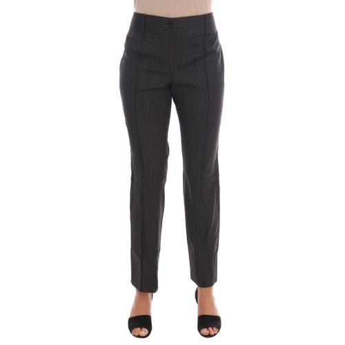 Dolce & Gabbana Gray Wool Stretch Slim Dress Pants
