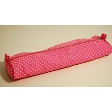 Pink Polka Dot Knitting Pin / Needle Case