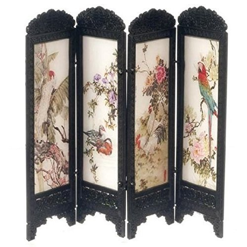 Dollhouse Miniature 1:12 Scale Birds Chinese Screen #S8132