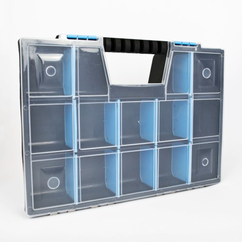 Large DIY Organiser STORAGE CASE Small Parts Carry Tool Box Screws Craft Stationery