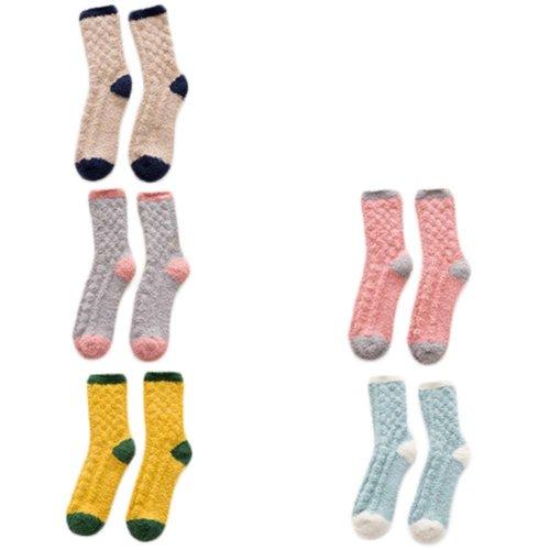 5 Pairs Adult Floor Socks Sleep Socks Winter Casual Socks #10