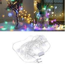 LED Snowflake Fairy String Light Decor