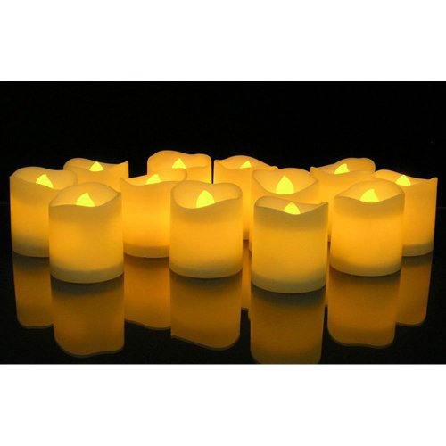 5f9736efa5 KOBWA Flickering Flameless Candles LED Tealight Candles-Pack of  12-Beautiful and Elegant Unscented LED Candles on OnBuy