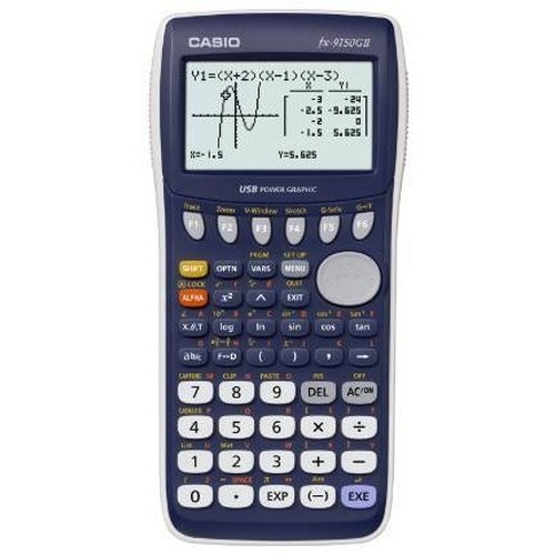 Casio FX-9750GII Desktop Graphing calculator Blue calculator