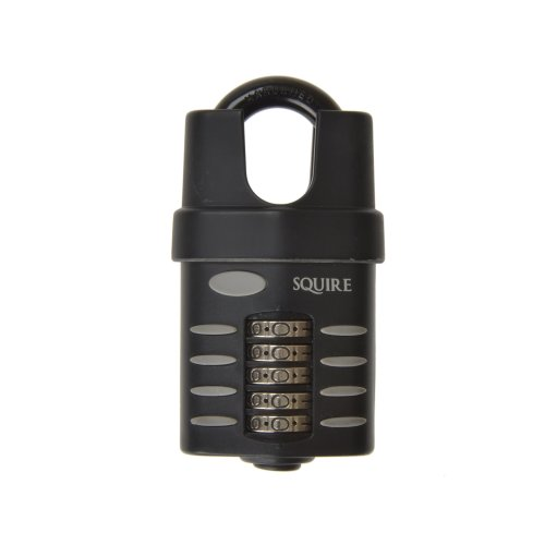 Squire CP60CS 60mm Push Button Combination Padlock Closed Shackle with Recoding Instructions