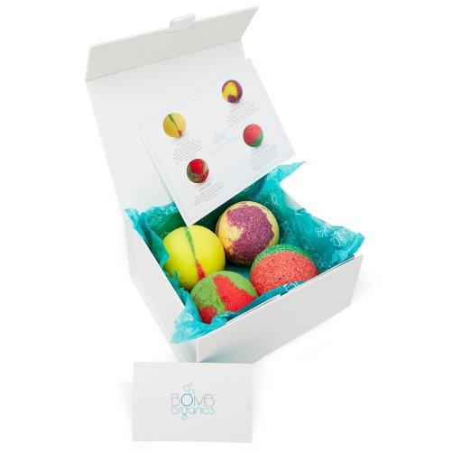 BOMB ORGANICS - Luxury 100% Organic Bath Bomb Gift Set