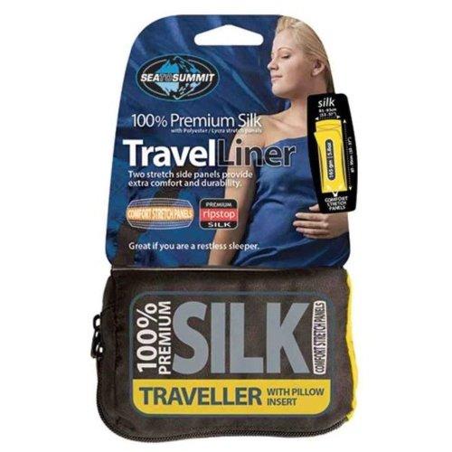 Sea to Summit Silk Stretch Panel Sleeping Liner Traveller (Eucalyptus Green)