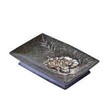 European Style Retro Resin Soap Dish/Soap Holder,Brown Peony