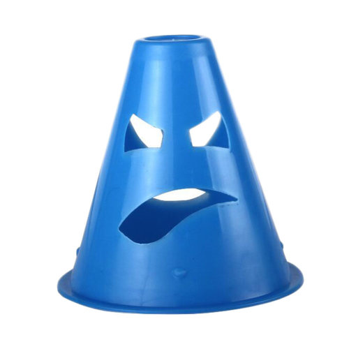 10Pcs Slalom Cones Skating Cone Traffic/ Training Cones/ Markers/ Barrier-Blue