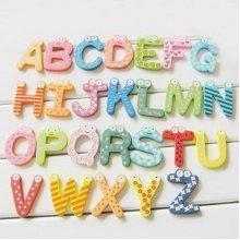 26 PCS Alphabet Magnets Assorted Color Refrigerator Magnets Preschool Toys