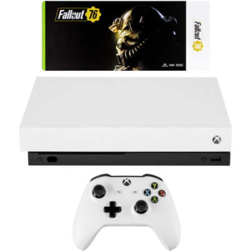 Microsoft Xbox One X robot white incl. Fallout 76 USK 18