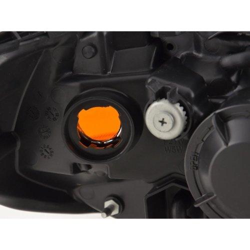 Nissan Almera 2003-2006 Black Headlight Headlamp Drivers Side Right