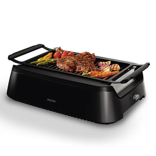 Philips HD6370/91 Smokeless Indoor Grill, 1600 W