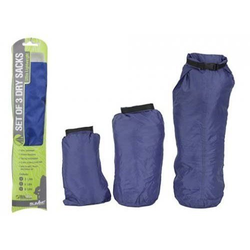 Royal Blue Set Of 3 Summit Dry Sacks -  3 dry sacks camping waterproof hiking set summit 2 4 8 pack weather resistant kayak bag