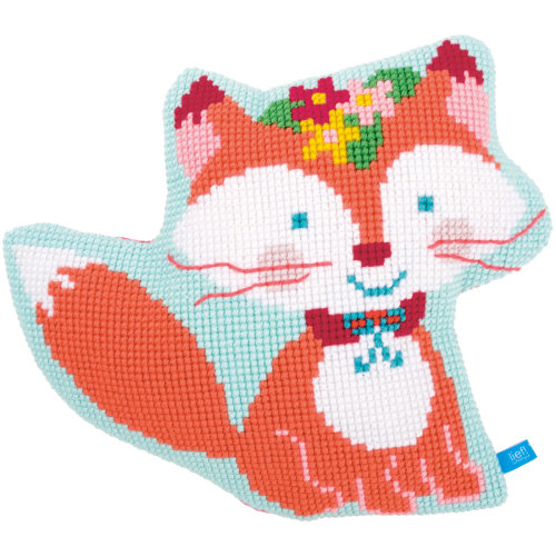 """Small Fox Shaped Cushion Cross Stitch Kit-18""""X14.8"""""""