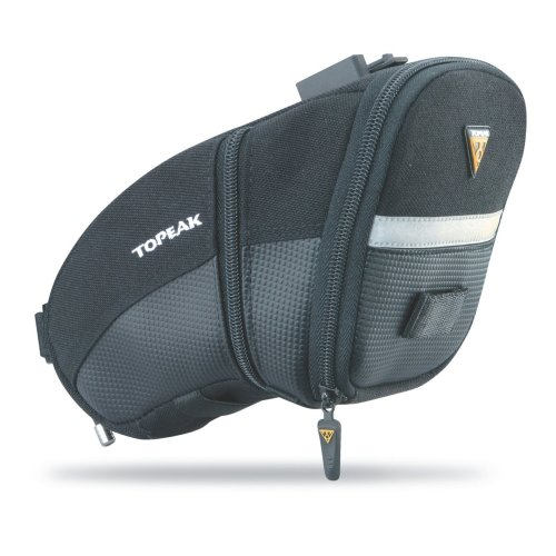 Topeak Aero Wedge with Fixer F25 Seat Pack - Black/Silver, Large