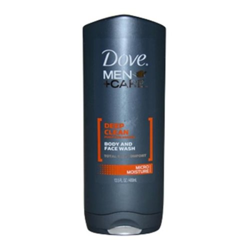 Dove M-BB-1443 Deep Clean Body and Face Wash by Dove for Men - 13.5 oz Body Wash