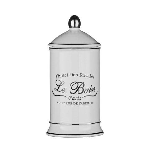 Le Bain Cotton Bud Jar - White