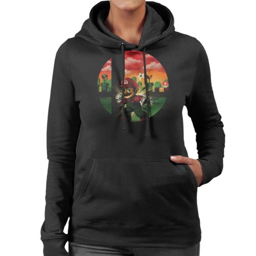 Smashbros Mario Women's Hooded Sweatshirt