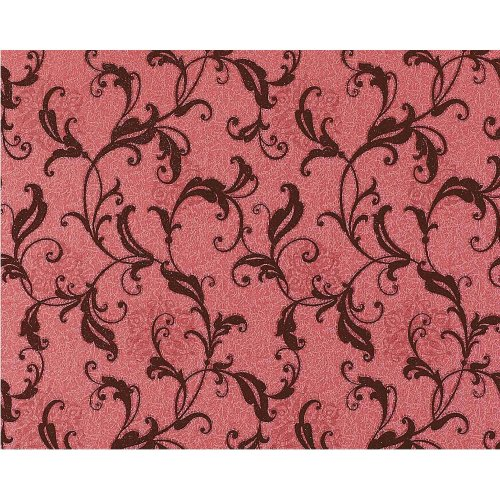 EDEM 600-94 design non-woven floral wallpaper antique red wine-red | 10.65 sqm