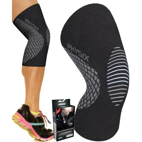 1779a70085 Physix Gear Sport Knee Support Brace - Premium Recovery & Compression Sleeve  For Meniscus Tear, ACL, Running & Arthritis - Best Neoprene Wrap for... on  ...