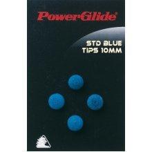 11mm Standard Snooker Cue Tips - Pool Blue 4 Pack Powerglide -  tips standard cue pool 11mm blue 4 pack powerglide