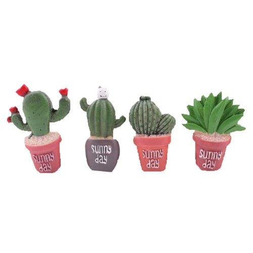 4 Pcs Creative Pushpin Push Pin Thumbtack Office Supplies, Cactus