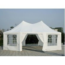 Outsunny 6.8x5m Large Octagonal Party Tent Gazebo Marquee
