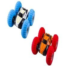 deAO RCA Turbo 360 Twister Remote Controlled Stunt Car Large Inflatable Tyres for Super Bounce