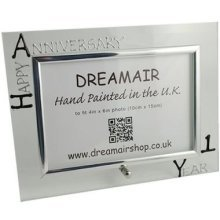 Personalised 1st Wedding Anniversary Photo Frame Paper Anniversary (landscape)