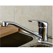 Kitchen Sink Mixer Tap Modern Chrome Brass Single Lever Mono bloc