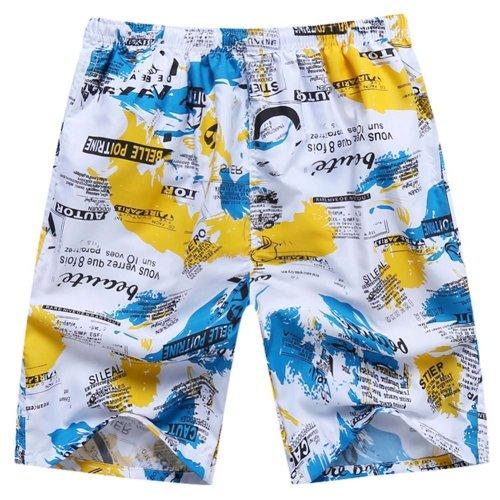 Quick-Drying Summer Men's Casual Sports Pants Soft Beach Pants