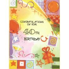 Congratulations on your 40th Birthday Greeting Card