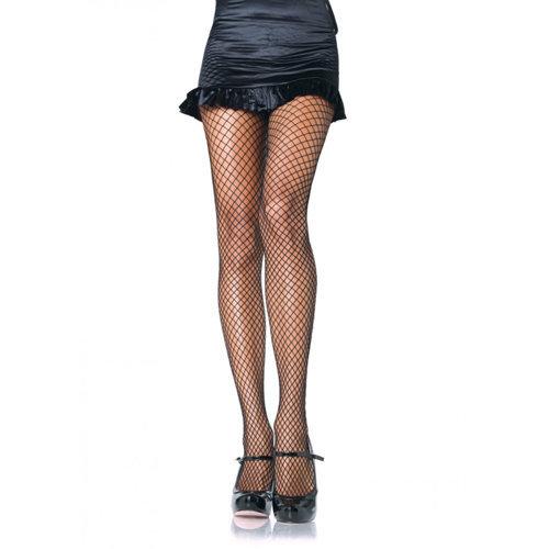 Lycra Fishnet Pantyhose - Black S/L Ladies Lingerie Stockings - Leg Avenue