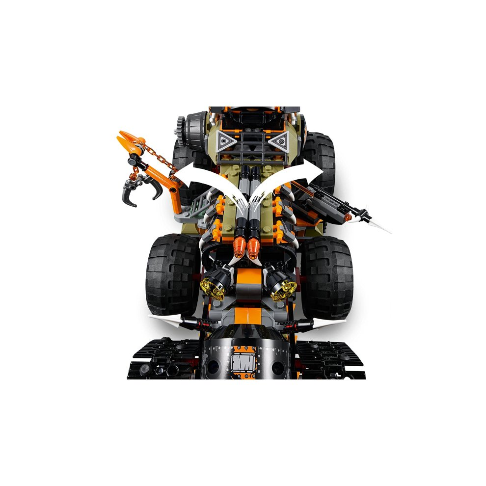 8168f6eaf9739 ... LEGO 70654 Ninjago Dragon Hunters Dieselnaut Toy Tank, Ninja Warriors  Vehicle, Building Sets for ...