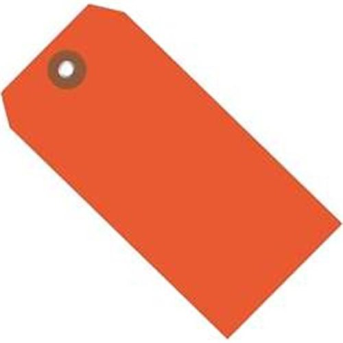 Box Partners G26053 4.75 x 2.38 in. Orange Plastic Shipping Tags - Pack of 100