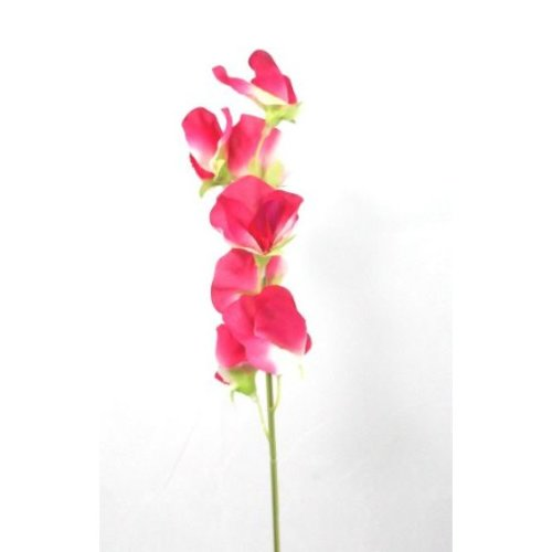 Artificial Silk Sweet Peas Single Stem