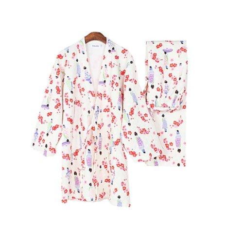 Beautiful Women's Pajamas Suit Pajamas Cotton Pajamas Kimono Pajamas