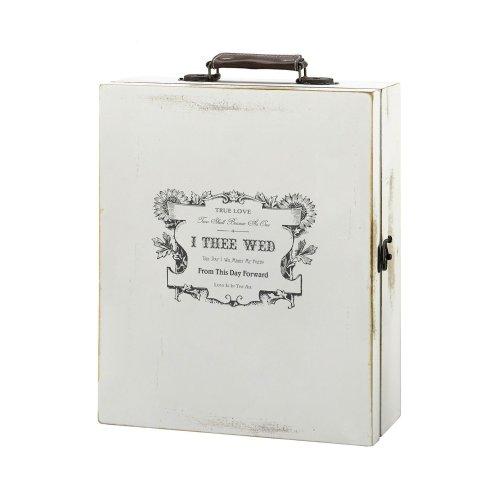Antique White Wine Box True Love