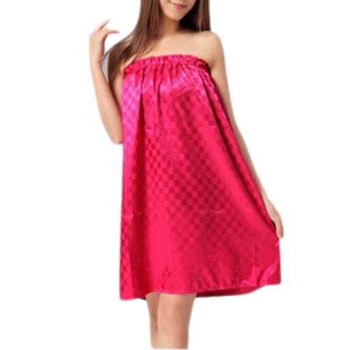 High-grade Sauna Salon Bathrobe Bath Skirt Strapless Smooth Bathing Dress-A01