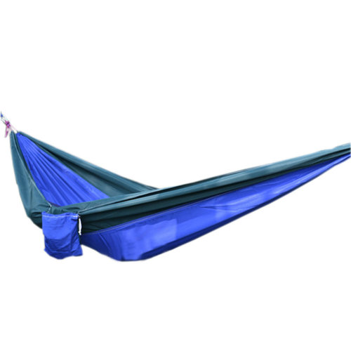 "Creative Canvas Color Matching Hammock Foldable Hammock 102*55"" Green&Blue"